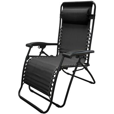 Caravan Sports® Infinity Oversized Portable Zero Gravity Reclining Lounge Chair, Black