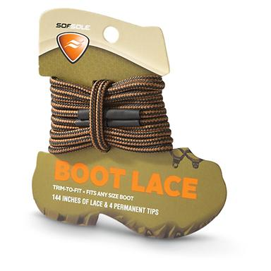 Softsole Trim-To-Fit Boot Laces, Brown/Waxy