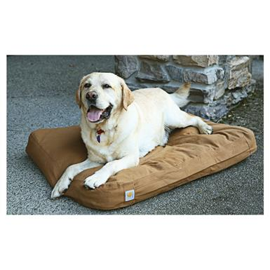 Carhartt® Brown Cotton Duck Padded Dog Bed
