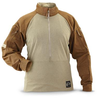 U.S. Military Surplus Nomex Combat Long-Sleeve Shirt, New, Coyote Tan