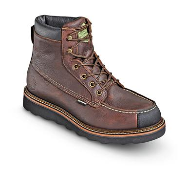 "Men's 6"" Waterproof, Breathable Flyway Moc Wedge Boots, Red Oak"