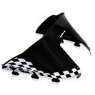 Cobra& Low-Profile Windshield for Polaris Standard Chassis, Black w/ White Checking