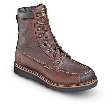 "Men's 8"" Waterproof, Breathable Flyway Moc Wedge Boots, Red Oak"