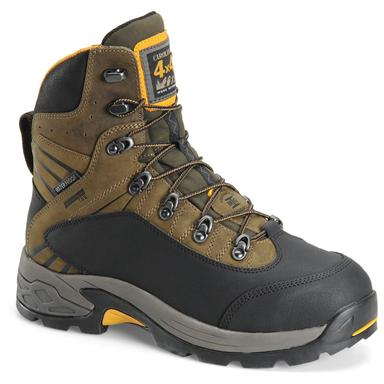 Men's Carolina 7 inch Waterproof 4x4 Aluminum Toe Internal Metguard Hiking Boots, Bandit Stone Gray