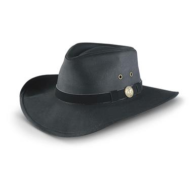 Outback Kodiak Oilskin Hat, Black