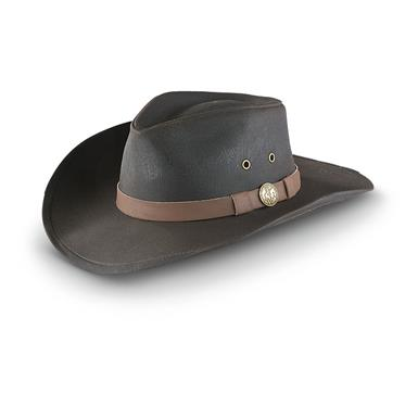 Outback Kodiak Oilskin Hat, Brown
