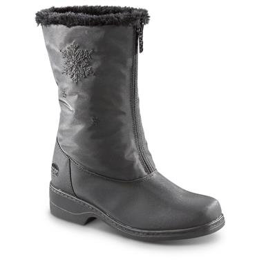 Totes Women's Staride Waterproof Winter Boots, Black
