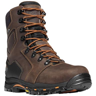 Men's Danner® 8 inch Vicious GTX® Waterproof Work Boots, Black / Blue