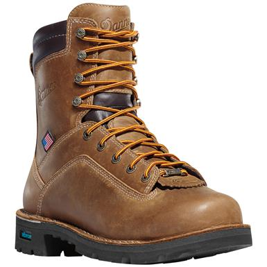 Men's Danner® 8 inch Quarry USA GTX® Waterproof Work Boots, Brown