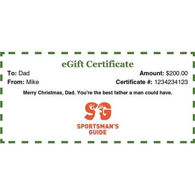 Sportsman's Guide Electronic Gift Card