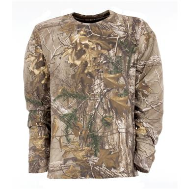 Berne Longshot Long-sleeved Camo T-shirt, Realtree Xtra