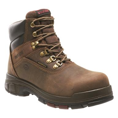 "Wolverine Men's 6"" Cabor EPX Waterproof 6"" Composite Toe Work Boots, Dark Coffee"