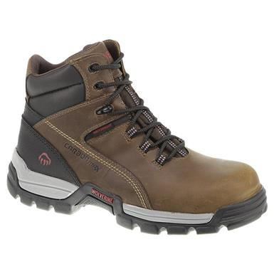 Men's Wolverine® 6 inch Tarmac Waterproof Composite Toe Reflective Work Boots, Cinnamon