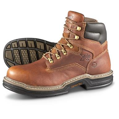 "Wolverine Men's 6"" Raider Work Boots, Brown"