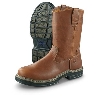 "Wolverine Men's 10"" Raider Pull-on Work Boots, Brown"