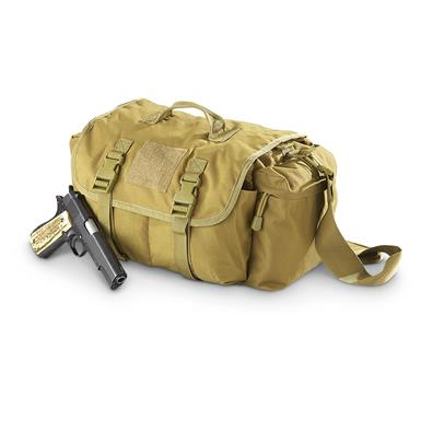 Fox Tactical Universal Go-To Range Shoulder Bag, Coyote Tan