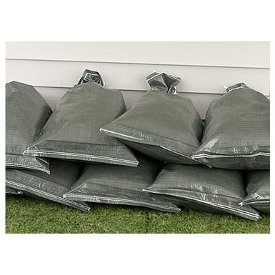 25 New Sand Bags, Olive Drab