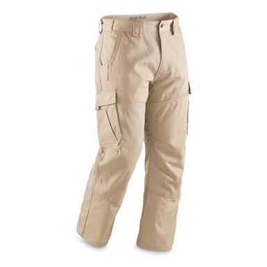 Guide Gear Men's Ripstop Cargo Work Pants, Khaki