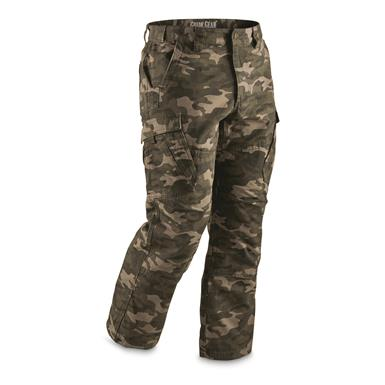 Guide Gear Men's Ripstop Cargo Work Pants, Camo
