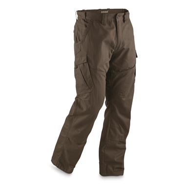 Guide Gear Men's Ripstop Cargo Work Pants, Dark Coffee