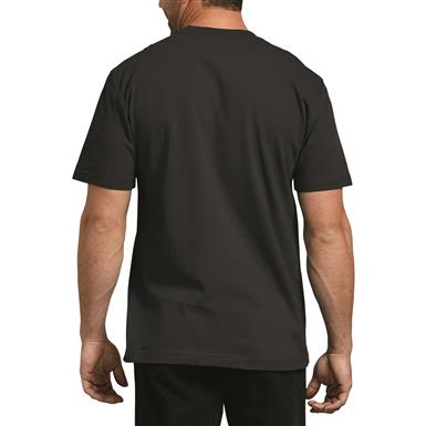 Dickies Men's Heavyweight Crew Neck Short Sleeve Shirt, Black