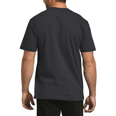 Dickies Men's Heavyweight Crew Neck Short Sleeve Shirt, Dark Navy