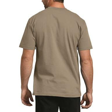 Dickies Men's Heavyweight Crew Neck Short Sleeve Shirt, Desert Sand