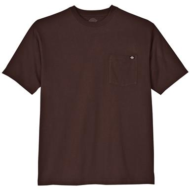 Dickies® Short-sleeved Heavyweight Crew Neck T-shirt, Chocolate Brown