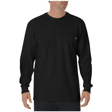 Dickies® Long-sleeved Heavyweight Crew Neck T-shirt, Black
