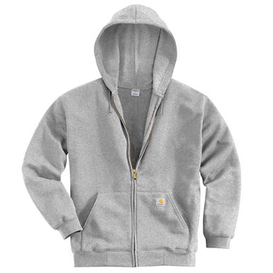 Carhartt Men's Hooded Zip Sweatshirt, Heather Gray