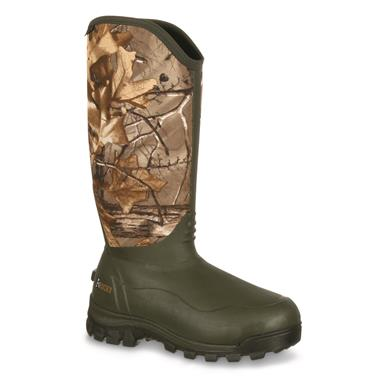 "Rocky Men's 16"" Core Waterproof Insulated Rubber Hunting Boots, 1,000 Gram Thinsulate Ultra, Realtree Xtra, Realtree Xtra®"