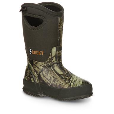 "Boys' Toddler Rocky® 9"" Core 400 gram Thinsulate™ Ultra Insulation Rubber Boots, Mossy Oak Break-Up Infinity®"
