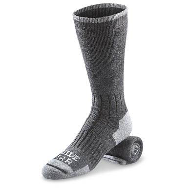 Guide Gear Lifetime Heavyweight Crew Socks, Gray