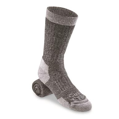 Guide Gear Lifetime Midweight Crew Socks, Charcoal