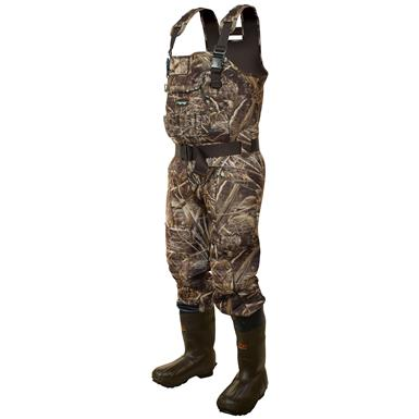 frogg toggs BullToggs 5mm Bull Hide Neoprene Cleated Bootfoot 1,200 gram Thinsulate Ultra Insulation Camo Chest Waders