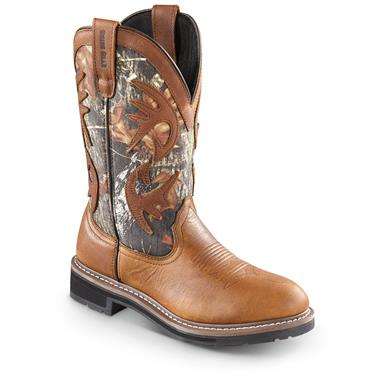 Guide Gear Men's Whitetail Camo Wellington Cowboy Boots, Peanut