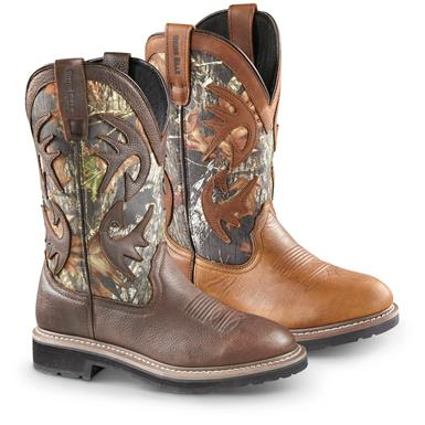 Guide Gear Men's Whitetail Camo Wellington Cowboy Boots