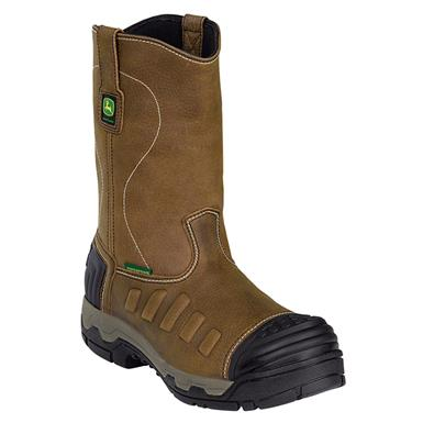 John Deere® 11 inch WCT II Waterproof Aluminum Alloy Toe Pull-on Work Boots