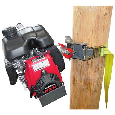 Works with trees and poles from 12 inches to 36 inches in diameter
