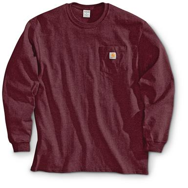 Carhartt Men's Long-sleeved Pocket T-shirt, Port