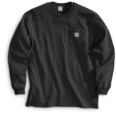 Carhartt Men's Long-sleeved Pocket T-shirt, Black