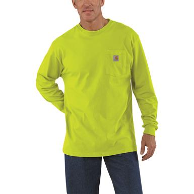 Carhartt Men's Long-Sleeve Pocket T-Shirt, Sour Apple