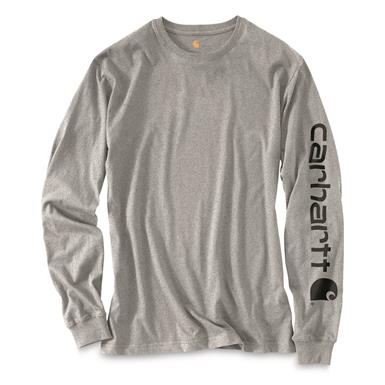 Carhartt Men's Signature Long-Sleeve Work T-Shirt, Heather Gray