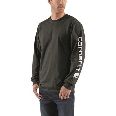 Carhartt Men's Signature Long-Sleeve Work T-Shirt, Black