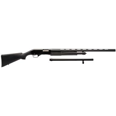 "Stevens 320 Field and Security Combo, Pump Action, 12 Gauge, 28""/18.5"" Barrels, 5+1 Rounds"