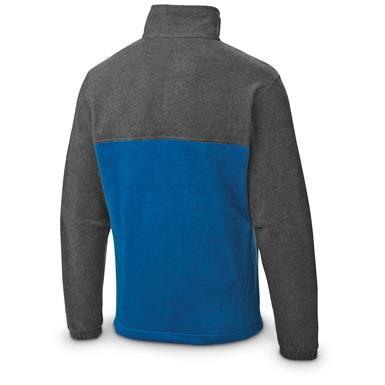 Columbia Men's Steens Mountain 2.0 Fleece Jacket, Charcoal Heather / Marine Blue