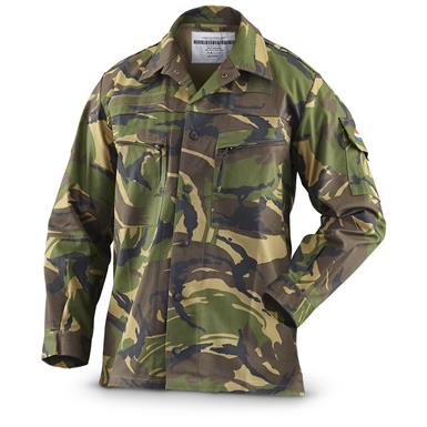 Dutch Military Surplus Men's DPM Camo Field Jacket, New