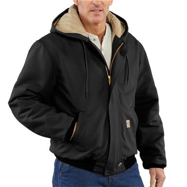 Carhartt Flame-resistant Heavyweight Quilt-lined Duck Active Jacket, Black