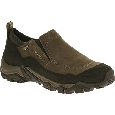 Merrell Men's Polarand Rove Waterproof Moc Toe Slip-On Shoes, Gunsmoke