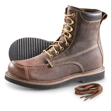 Guide Gear Men's Uplander Waterproof Lace Up Hunting Boots, Brown